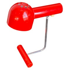 1960's Mid-Century Modern Red Desk or Table Lamp