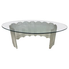 Mid Century Lucite and Glass Coffee Table