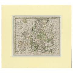 Antique Map of Europe by Krevelt '1786'