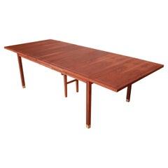 Harvey Probber Style Mid-Century Modern Walnut Dining Table, Newly Refinished
