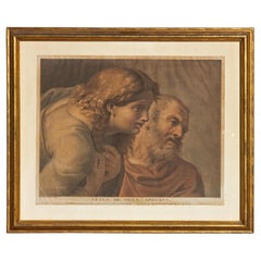 Old Master Print Heads of Two Apostles after Raphael