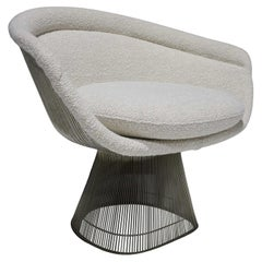 Warren Platner for Knoll Lounge Chair in Off-White Boucle