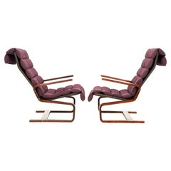 Early Westnofa Lounge Chairs Attributed to Adolf Relling