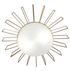 Cosulich Interiors Minimalist Italian Gold Steel Sunburst Pendant / Flushmount
