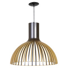 Black Birch Slatted Victo Pendant by Seppo Koho for Secto Designs '2 Available'