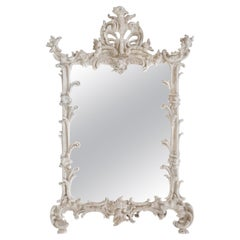 Antique JM-38 Cast Iron Baroque Art Easel Tabletop Picture Mirror Frame Chic