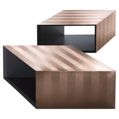 DeCastelli Alpha Modular Coffee Table in Natural Copper by Martinelli Venezia