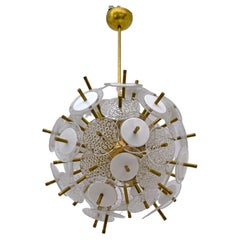 Vistosi Style Murano Glass Discs Sputnik Chandelier