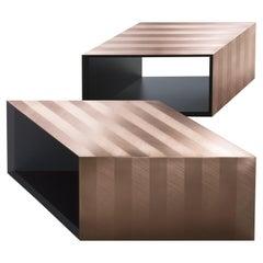 DeCastelli Alpha Modular Coffee Table in DeErosion Copper by Martinelli Venezia