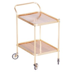 20th Century French Art Deco Trolley, Made Out of Brass Original Condition 1950s