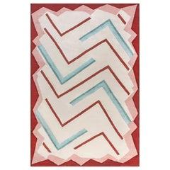 Doris Leslie Blau Collection Art Deco Style Beige Brown Green Pink Wool Rug
