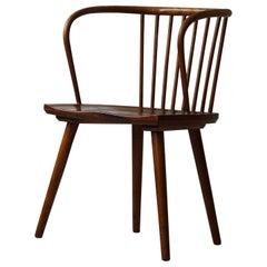 Danish Modern Bentwood Armchair in Beech, in the Style of Karl Schrøder, 1950s