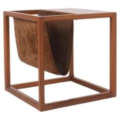 Danish Cube Magazine Rack / Side Table by Kai Kristiansen, 1960s