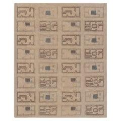 Doris Leslie Blau Collection Custom Art Deco High-Low, Knotted Rug