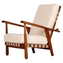 Rare Boucle Easy Chair by Jan Vanek for Krásná Jizba, 1950s