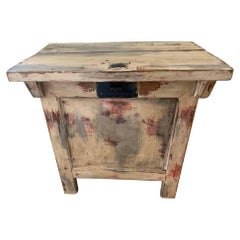 One of a Kind Distressed Painted Chest Credenza