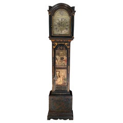Rare George III Painted and Chinoiserie Longcase Clock