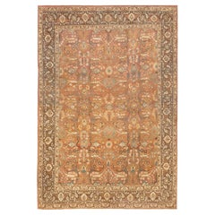 Antique Persian Tabriz Rug. Size: 7 ft 6 in x 11 ft 3 in (2.29 m x 3.43 m)