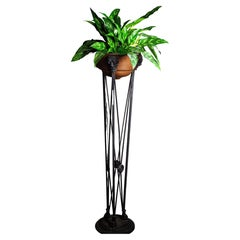 1920s French Neo Classical Plant Stand with Lion Cartouches