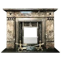 Large Victorian Ashburton Marble Fireplace Surround