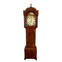 Quality 19th Century Antique Mahogany Inlaid Eight Day Longcase Clock by Ganz o
