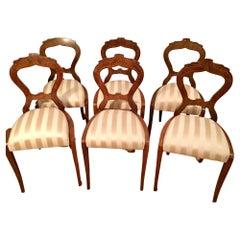 Biedermeier Set of 6 Dining Chairs Dannhauser