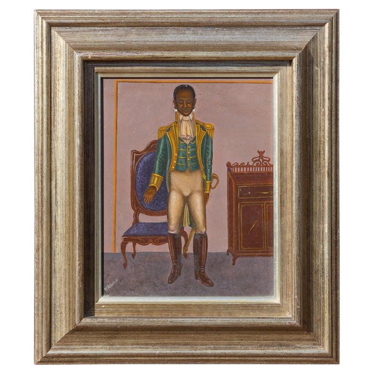General Toussaint Louverture by Hattian Artist Serge Moleon Blaise For Sale