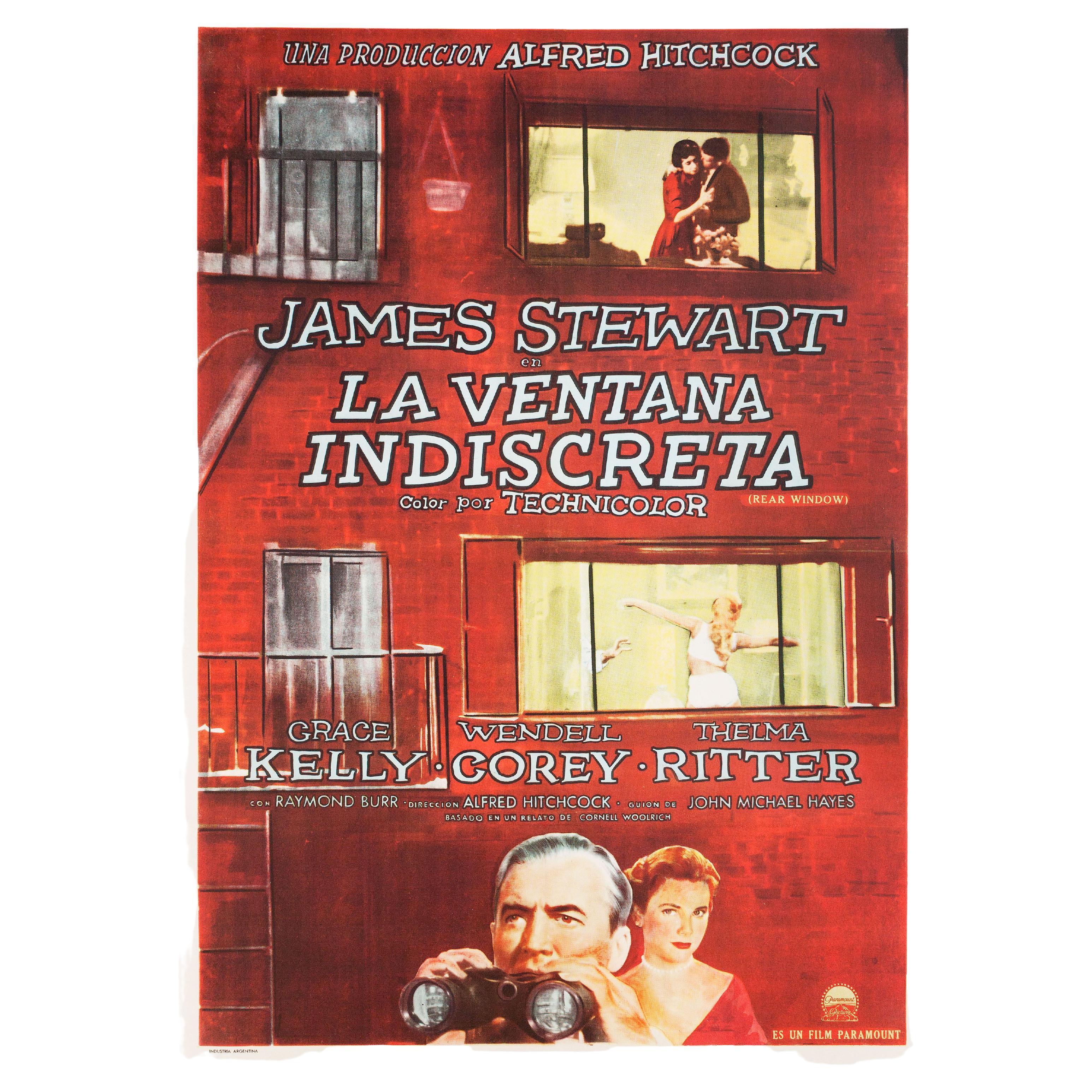 Rear Window 1954 Argentine Film Poster