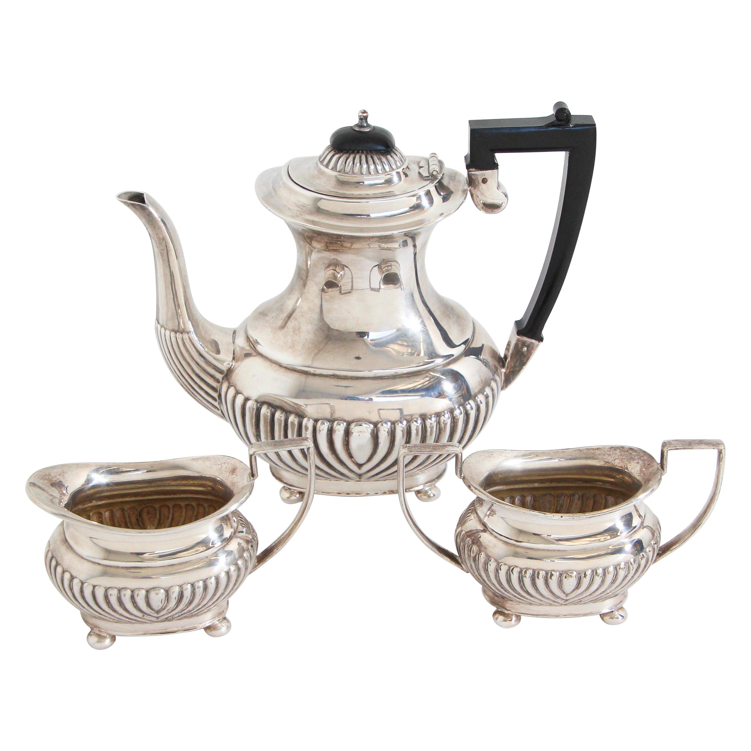 Antique Sheffield Silverplate Tea Set