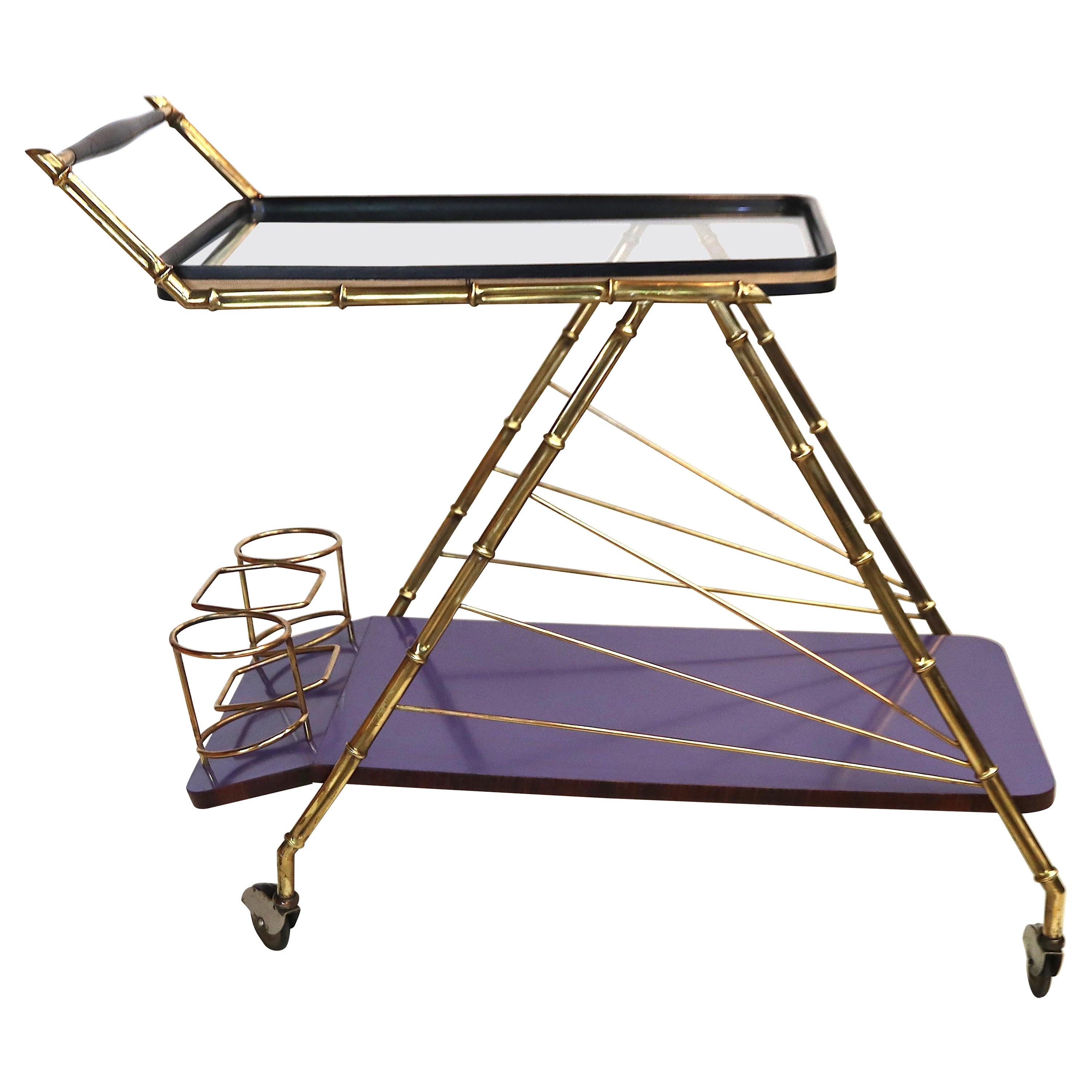 Bar Cart Drinks Trolley by Cesare Lacca