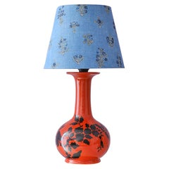 Vintage Ceramic Table Lamp with Customized Shade, France 1960's