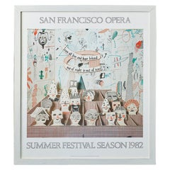 Vintage David Hockney Exhibition Poster from The San Francisco Opera, USA 1982