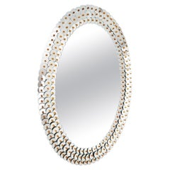 """""""Payette"""" Murano Glass Mirror Contempory, Handmade by Fratelli Tosi"""