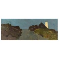 Arne Aspelin, Sweden, Oil on Canvas, Modernist Landscape, Mid 20th C