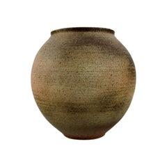 Liisa Hallamaa for Arabia, Large Unique Vase in Glazed Ceramics, 1960s/70s