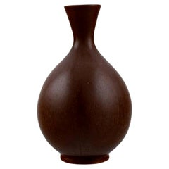 Berndt Friberg for Gustavsberg Studiohand, Vase in Glazed Stoneware