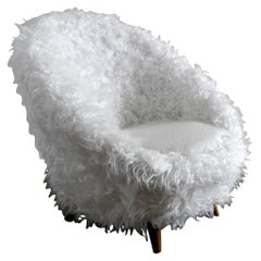 """Vatne """"Florida"""" Easy Egg Chair in Style of Royère Produced in Norway, 1950s"""