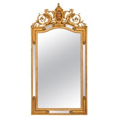 French 19th Century Renaissance Style Double Frame Giltwood Mirror
