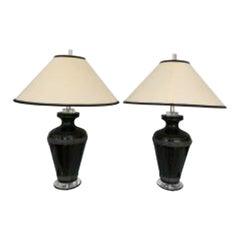 Pair of Signed Van Teal Lamps
