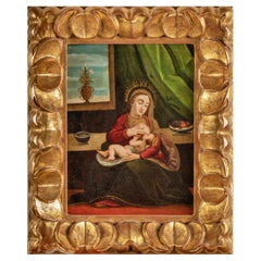 "Flemish School 16th Century '1530/1550' ""The Virgin of the Milk"" 25% Discount"