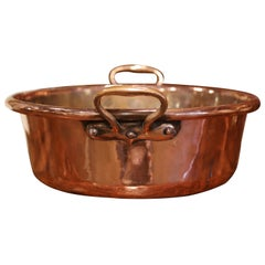 Mid-19th Century French Copper and Brass Jelly Boiling Bowl