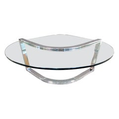 Vintage Modern Glass Coffee Table by Pace