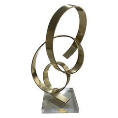 Dan Murphy Brass Abstract Sculpture