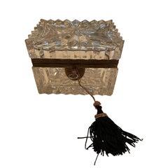 French Crystal Casket Box