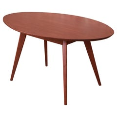 Jens Risom for Knoll Mid-Century Modern Walnut Dining or Game Table, Refinished
