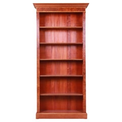 Victorian Style Burled Walnut and English Yew Wood Tall Bookcase