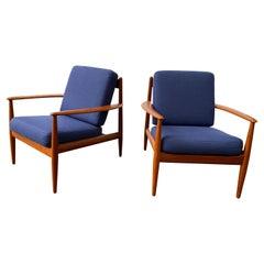 Grete Jalk Teak Lounge Chairs