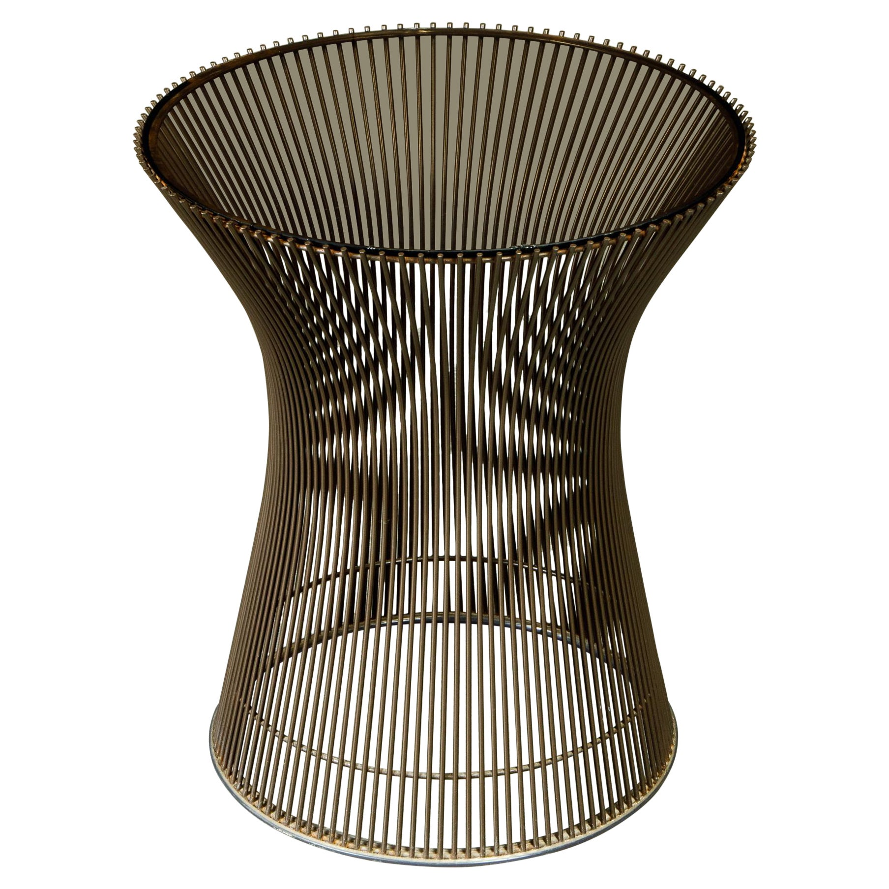 Bronze Wire Side Table by Warren Platner for Knoll International, circa 1968