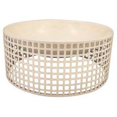 Rare Perforated Metal Bowl Designed by Joseph Hoffman for Bieffeplast