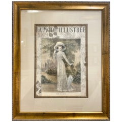 La Mode Illustree Print Nicely Framed and Matted